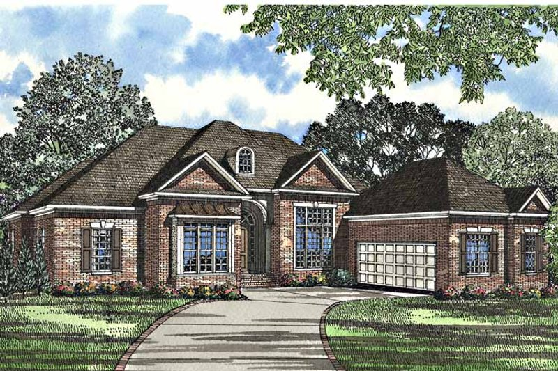Traditional Exterior - Front Elevation Plan #17-3139 - Houseplans.com
