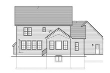 House Plan Design - Colonial Exterior - Rear Elevation Plan #1010-126