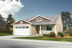 Craftsman Exterior - Front Elevation Plan #569-18