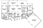 Craftsman Style House Plan - 3 Beds 3.5 Baths 2531 Sq/Ft Plan #119-426 Floor Plan - Main Floor Plan