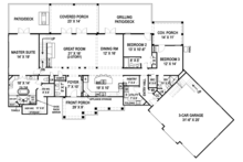 Craftsman Floor Plan - Main Floor Plan Plan #119-426