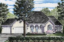 Architectural House Design - Ranch Exterior - Front Elevation Plan #316-233