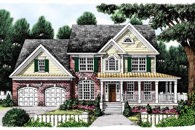 Country Exterior - Front Elevation Plan #927-331