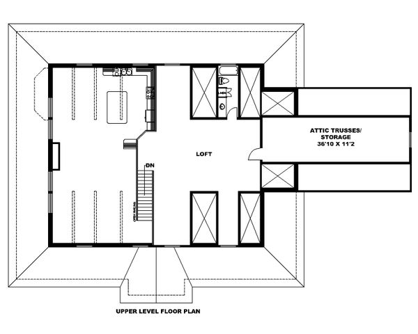 Dream House Plan - Country Floor Plan - Upper Floor Plan #117-889