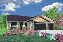 Craftsman Exterior - Front Elevation Plan #509-294
