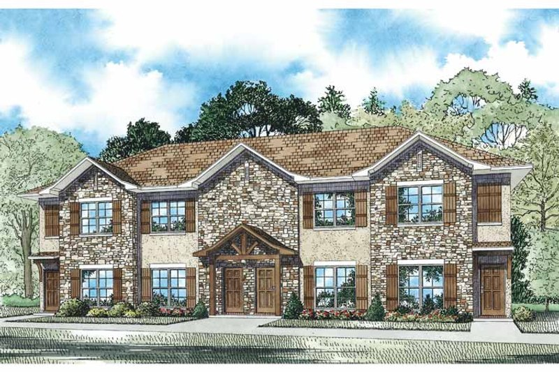 Traditional Exterior - Front Elevation Plan #17-3359 - Houseplans.com