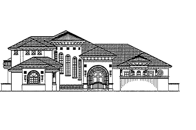 Mediterranean Exterior - Front Elevation Plan #930-436 - Houseplans.com