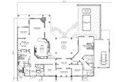 Adobe / Southwestern Style House Plan - 2 Beds 2 Baths 4379 Sq/Ft Plan #451-19 Floor Plan - Main Floor Plan
