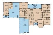 European Style House Plan - 6 Beds 6.5 Baths 5106 Sq/Ft Plan #923-87 Floor Plan - Main Floor Plan