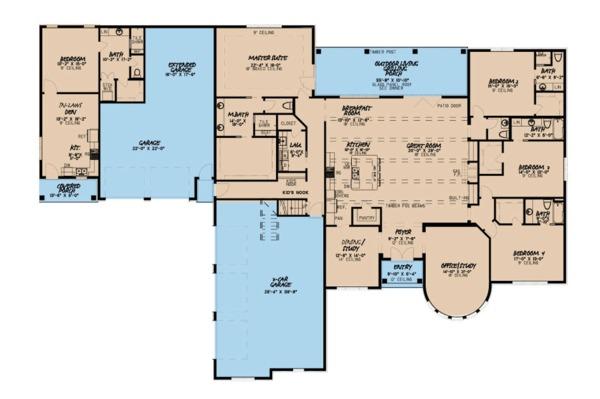 House Plan Design - European Floor Plan - Main Floor Plan #923-87