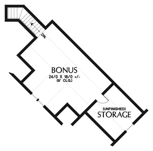 Craftsman Floor Plan - Upper Floor Plan Plan #48-959