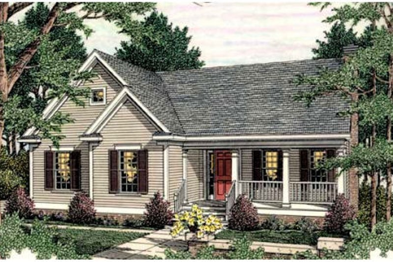 Traditional Exterior - Front Elevation Plan #406-281 - Houseplans.com
