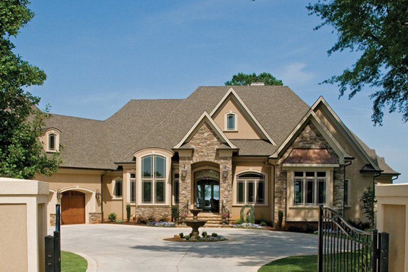 European style house plan 4 beds 4 baths 6155 sq ft plan for Large estate home plans