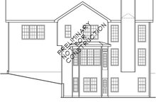 Classical Exterior - Rear Elevation Plan #927-576