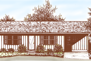 House Plan Design - Ranch Exterior - Front Elevation Plan #30-242