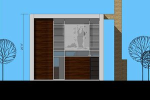 Modern Exterior - Front Elevation Plan #473-3