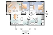 Ranch Style House Plan - 2 Beds 1 Baths 1007 Sq/Ft Plan #23-2619 Floor Plan - Main Floor Plan