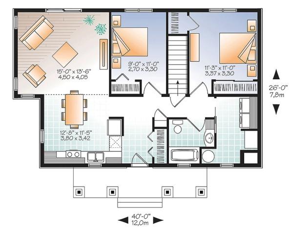 House Plan Design - Ranch Floor Plan - Main Floor Plan #23-2619