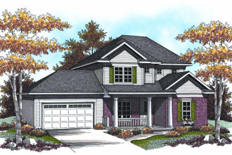 Traditional Exterior - Front Elevation Plan #70-949