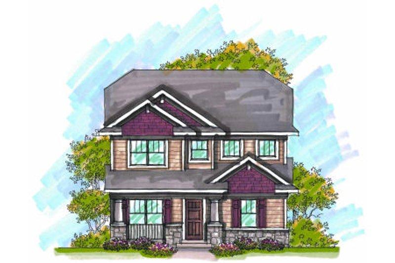 Craftsman Exterior - Front Elevation Plan #70-968