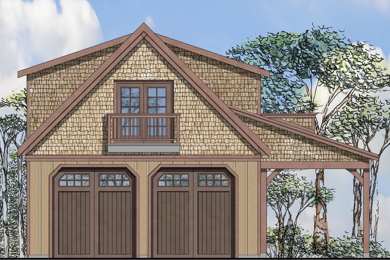 Craftsman Style House Plan - 0 Beds 0 Baths 1734 Sq/Ft Plan #124-961 Exterior - Front Elevation