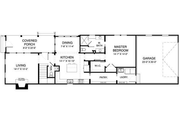 Colonial Floor Plan - Main Floor Plan Plan #900-6