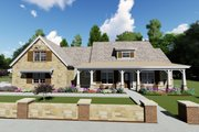 Farmhouse Style House Plan - 3 Beds 4 Baths 2593 Sq/Ft Plan #1069-2 Exterior - Front Elevation