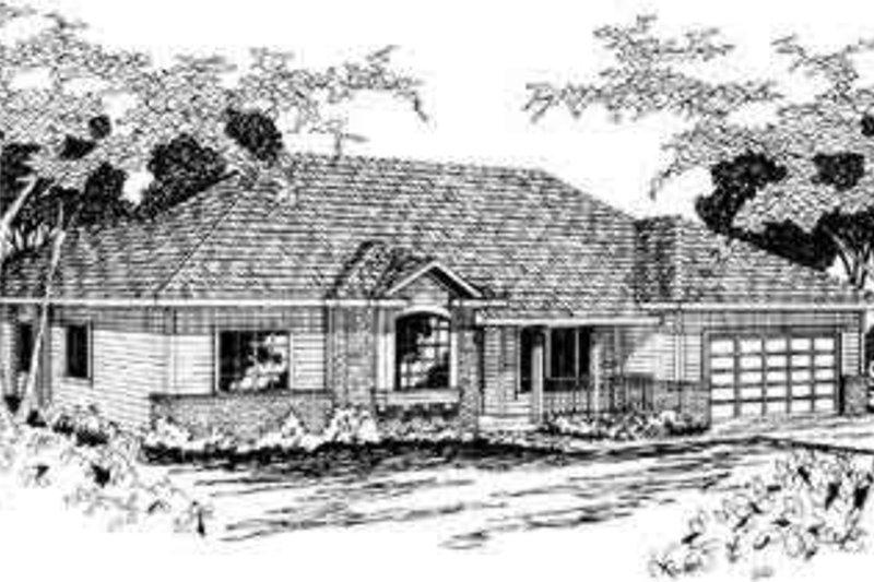 Exterior - Front Elevation Plan #124-279 - Houseplans.com