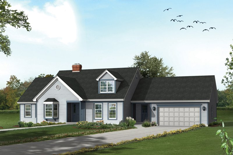 Architectural House Design - Traditional Exterior - Front Elevation Plan #57-699
