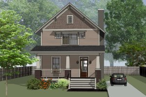 Craftsman Exterior - Front Elevation Plan #79-315