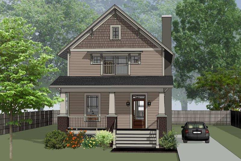 Dream House Plan - Craftsman Exterior - Front Elevation Plan #79-315