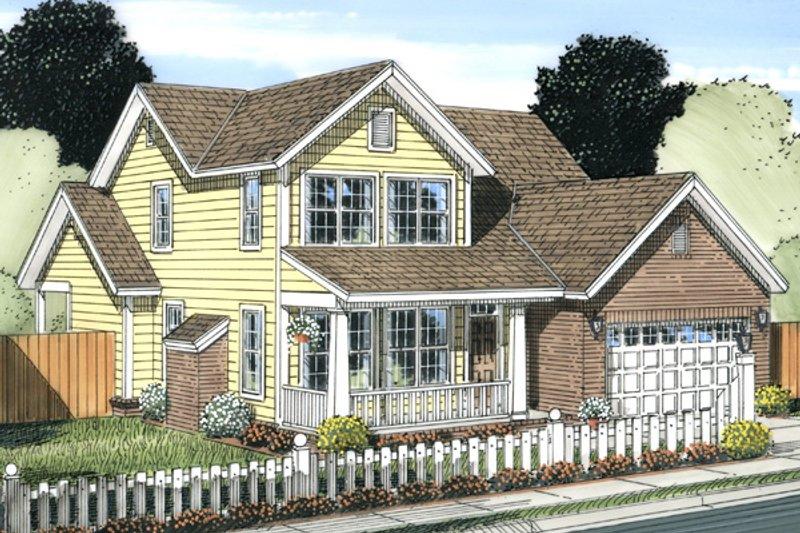 Cottage Exterior - Front Elevation Plan #513-2063
