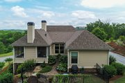 Ranch Style House Plan - 3 Beds 3.5 Baths 2350 Sq/Ft Plan #437-89 Exterior - Rear Elevation
