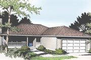 Ranch Style House Plan - 3 Beds 2 Baths 1522 Sq/Ft Plan #100-102 Exterior - Front Elevation