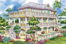 House Plan Design - Country Exterior - Rear Elevation Plan #930-68