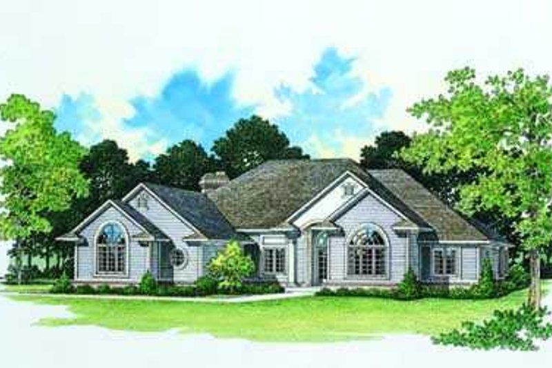 Traditional Exterior - Front Elevation Plan #72-164 - Houseplans.com