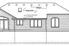 Home Plan - Traditional Exterior - Rear Elevation Plan #94-105
