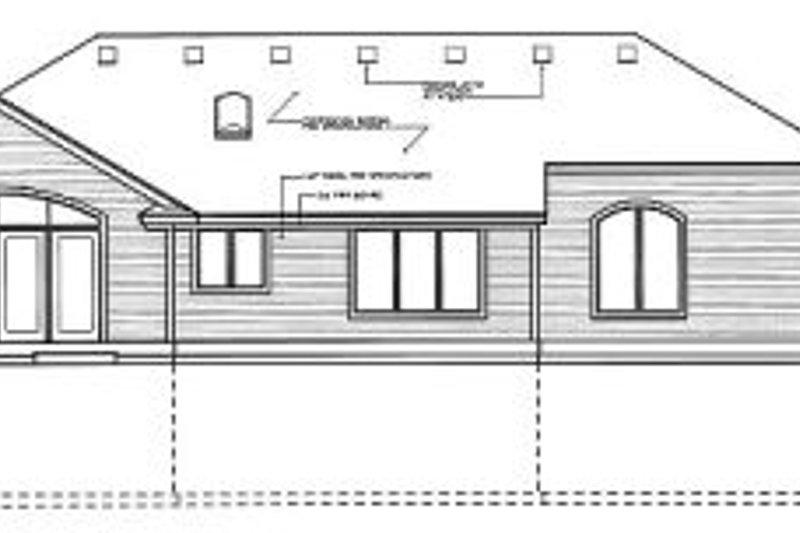 Traditional Exterior - Rear Elevation Plan #94-105 - Houseplans.com