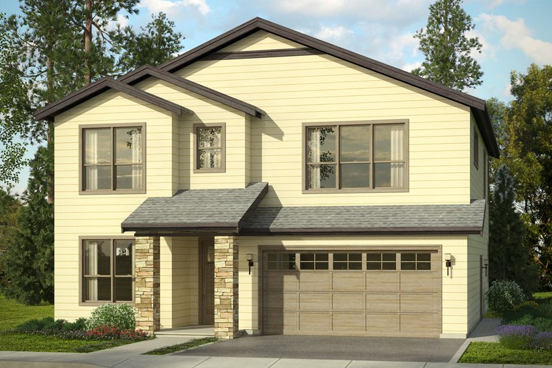 Dream House Plan - Traditional Exterior - Front Elevation Plan #124-1018