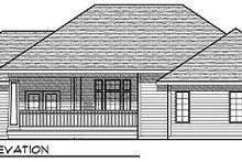 Ranch Exterior - Rear Elevation Plan #70-864