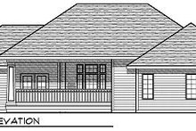 Dream House Plan - Ranch Exterior - Rear Elevation Plan #70-864