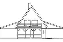 Home Plan Design - Cottage Exterior - Rear Elevation Plan #60-113
