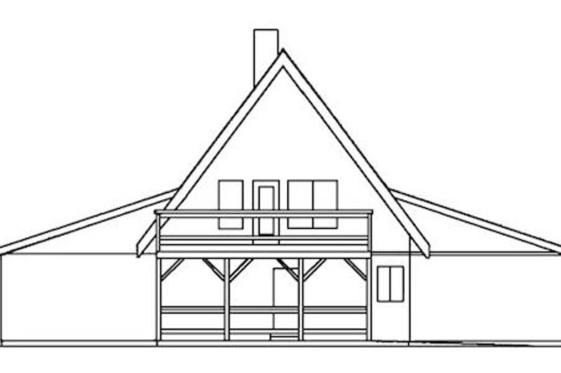 Cottage Exterior - Rear Elevation Plan #60-113 - Houseplans.com