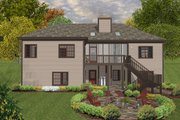 Craftsman Style House Plan - 3 Beds 2 Baths 1800 Sq/Ft Plan #56-633 Exterior - Rear Elevation