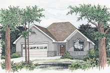 Ranch Exterior - Front Elevation Plan #20-2230