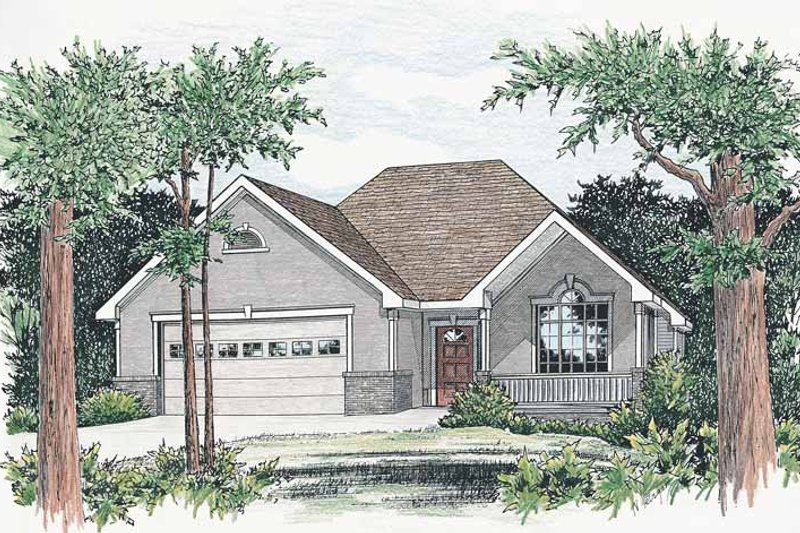 Dream House Plan - Ranch Exterior - Front Elevation Plan #20-2230