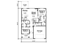 Ranch Floor Plan - Main Floor Plan Plan #20-2314