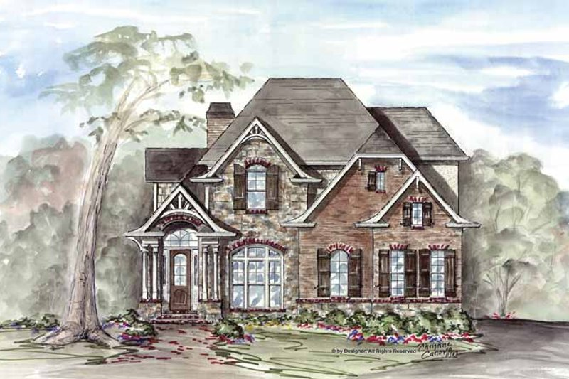 Craftsman Exterior - Front Elevation Plan #54-312