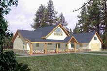 Dream House Plan - Traditional Exterior - Front Elevation Plan #117-279