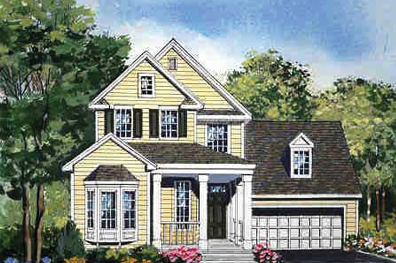 Country Exterior - Front Elevation Plan #314-291 - Houseplans.com